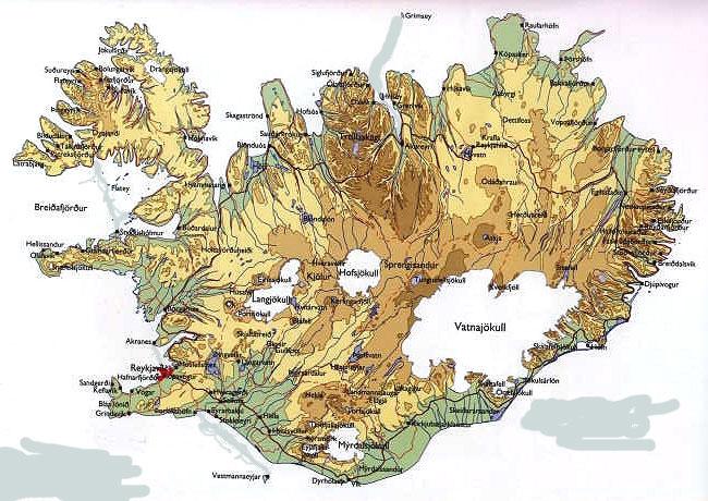 Carte Islande Avec Principaux Sites A Voir